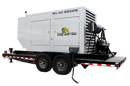 Tiger Industrial Rentals 130 KW Well Gas / LP Generator